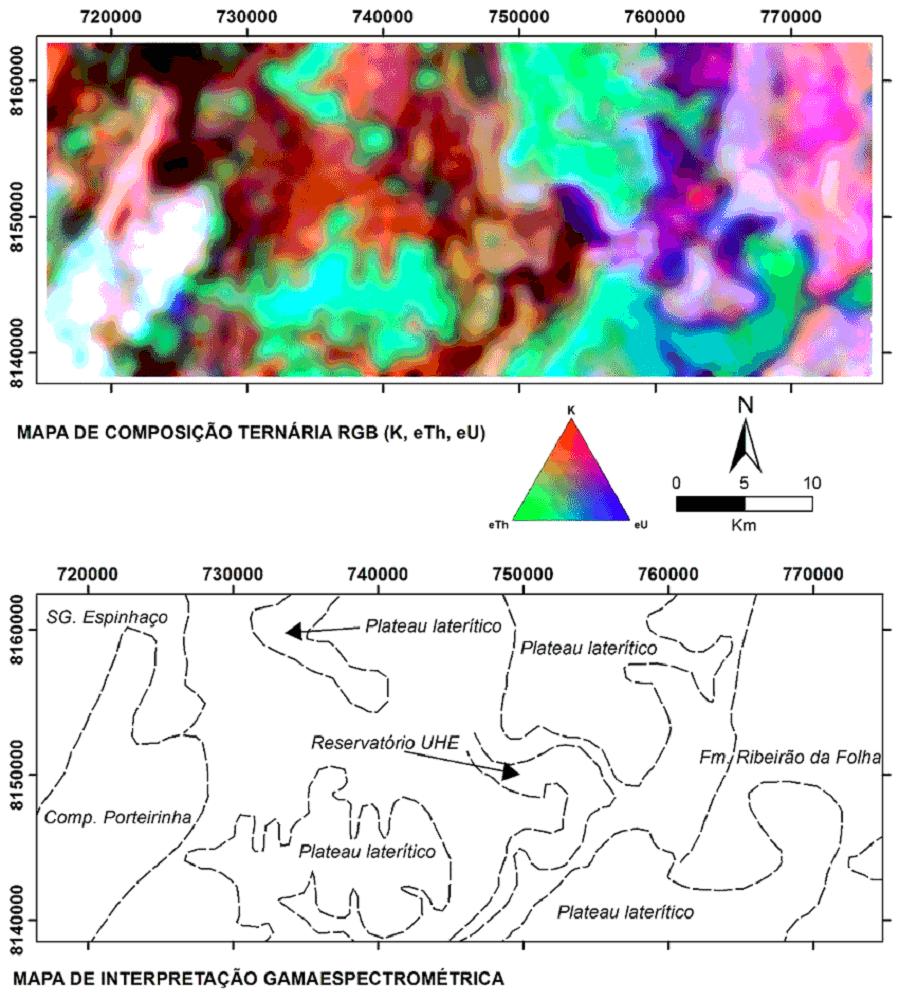 Mapa aerogeofísico de gamaespectrometria