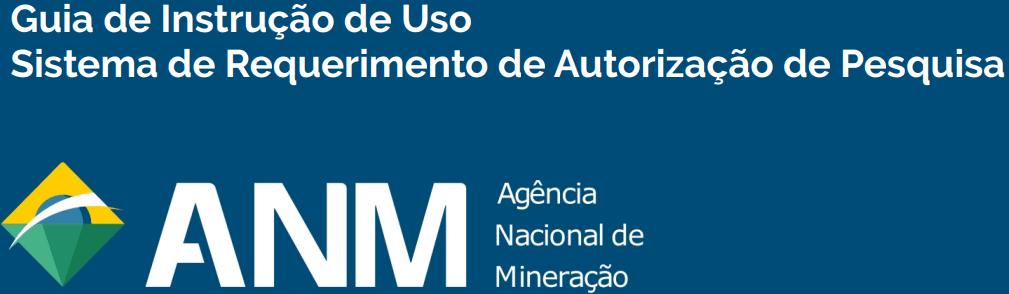 Guia do requerimento eletrônico de pesquisa mineral (REPEM) da ANM.
